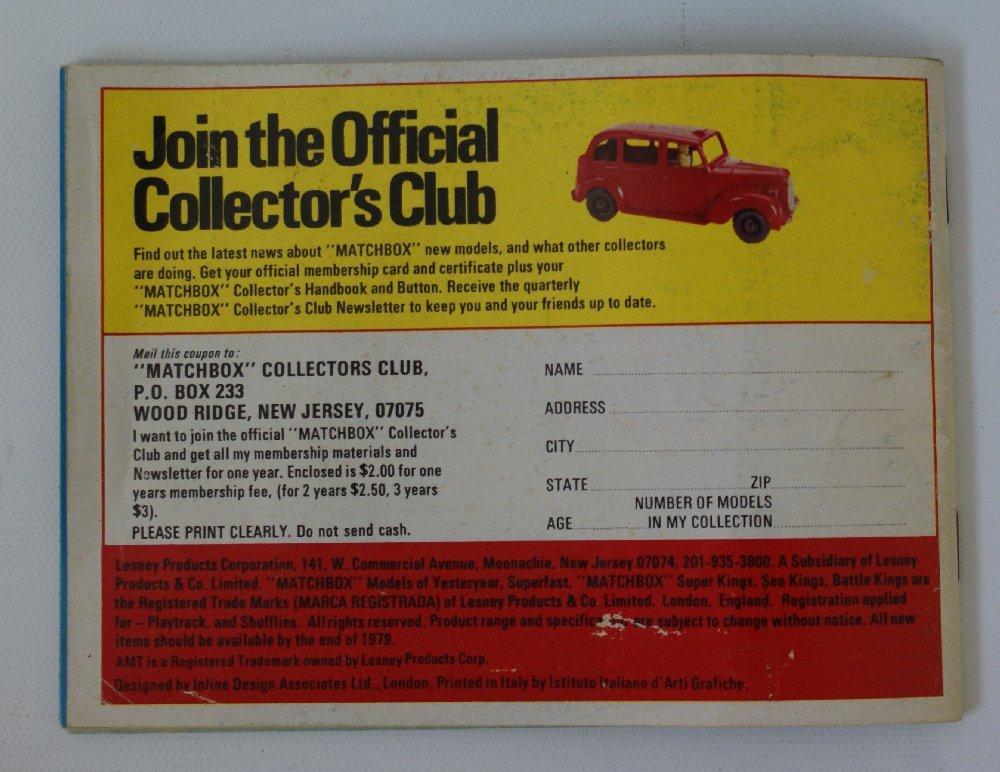 Vintage 1979/80 MATCHBOX LESNEY Collector's Toy Dealer - 3