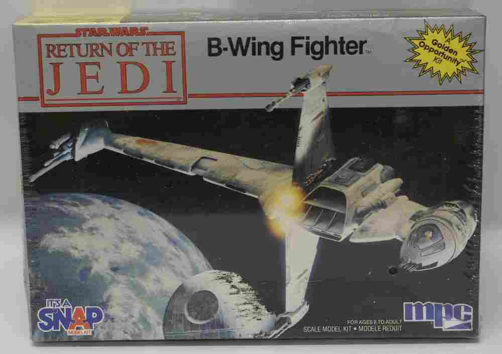 Vintage 1983 MPC STAR WARS ROTJ B-Wing Fighter Scale