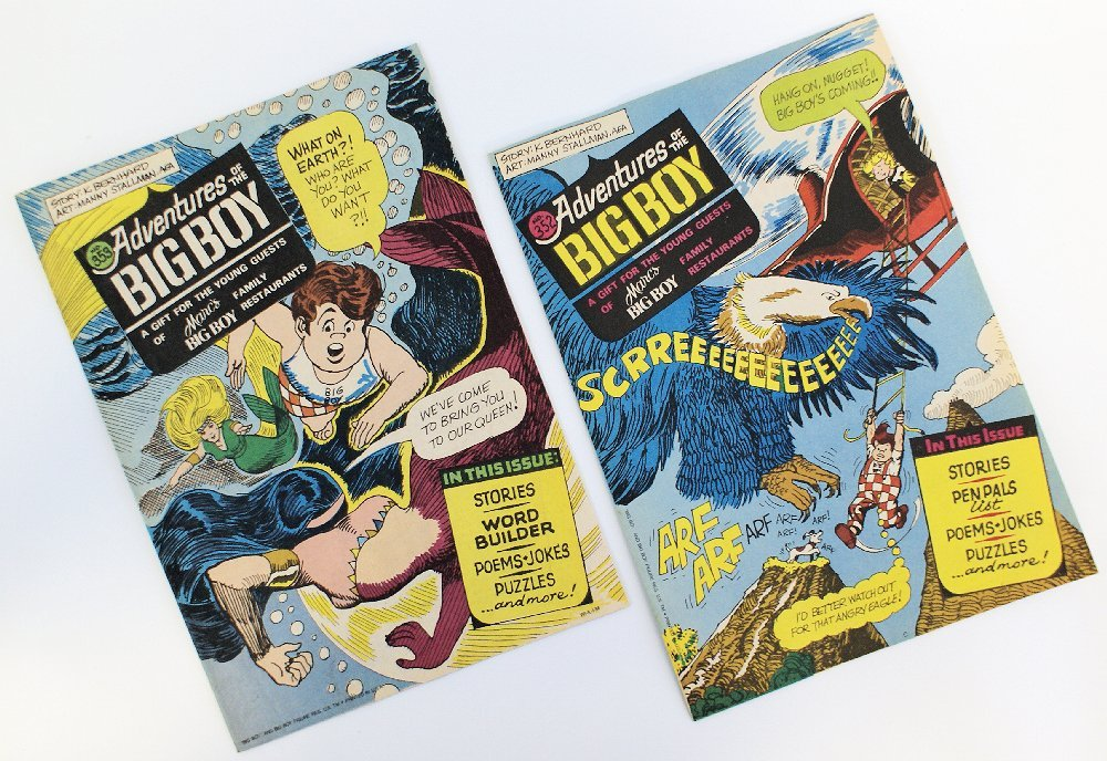 Lot of 2 Vintage 1986 'ADVENTURES OF THE BIG BOY' Comic