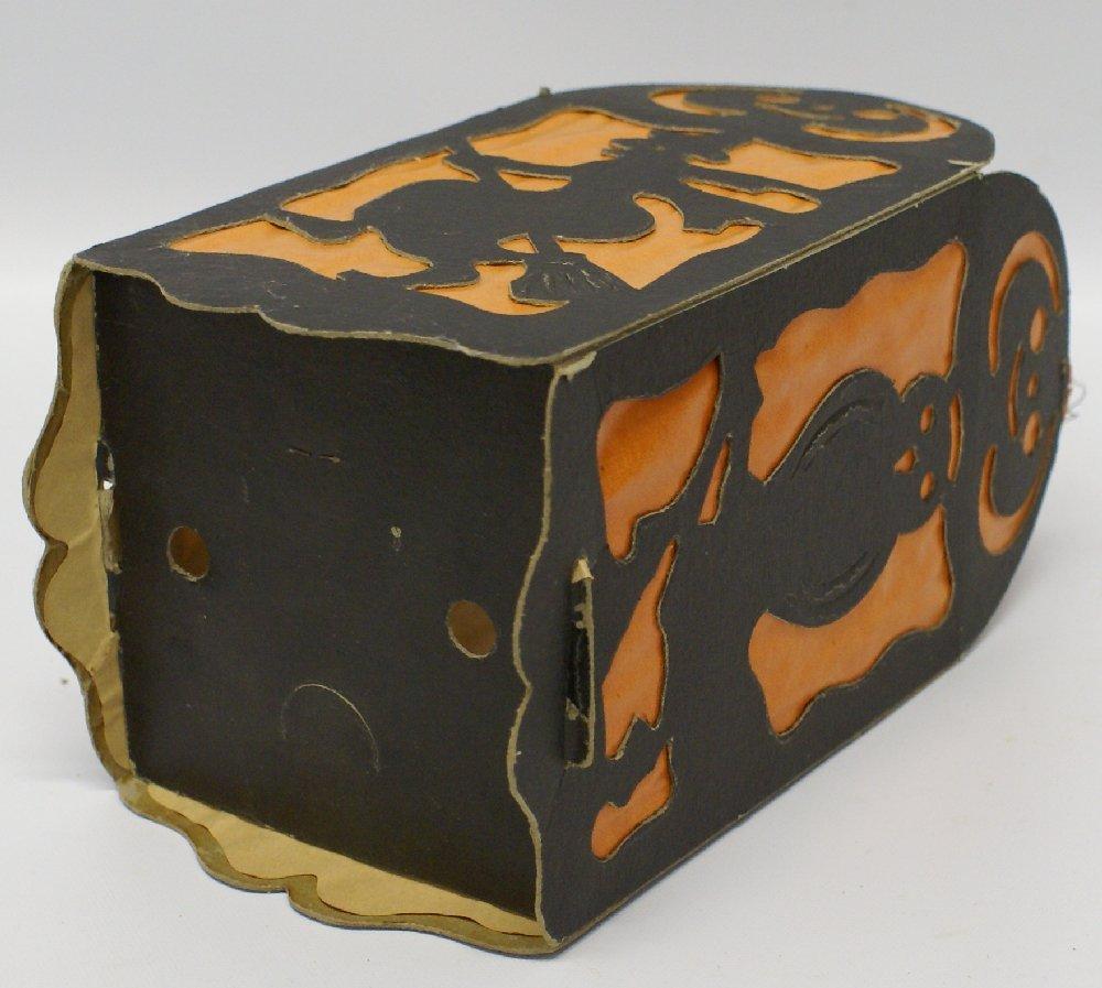 RARE 1920's German Diecut 4-Panel Collapsible HALLOWEEN - 5
