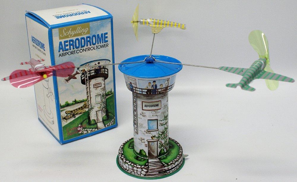 Tin Windup SCHYLLING 'AERODROME' Airport Control Tower