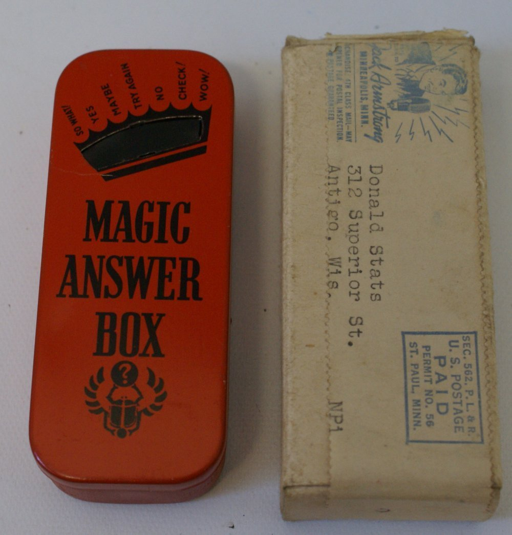 """1938 Wheaties """"Jack Armstrong"""" Premium, Magic Answer"""