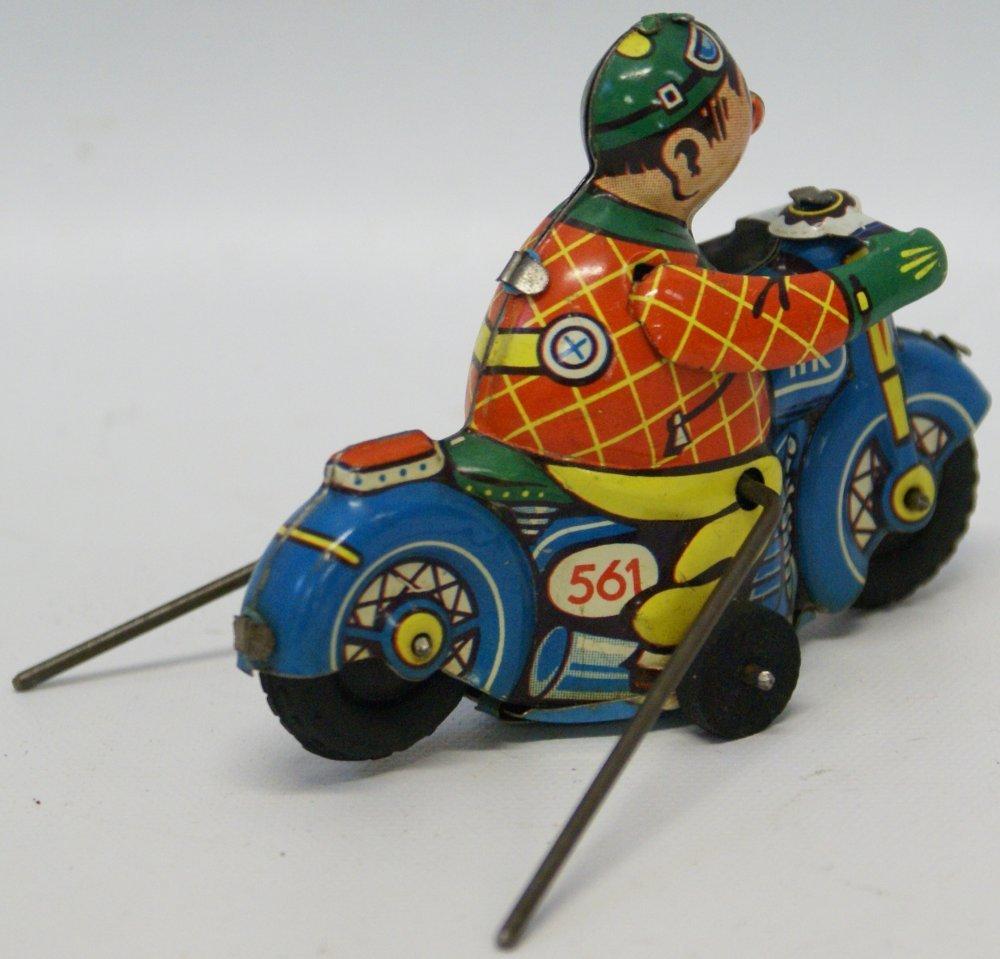 Huki #561 Tin Flip-over Motorcycle Driver, Hammer - 2