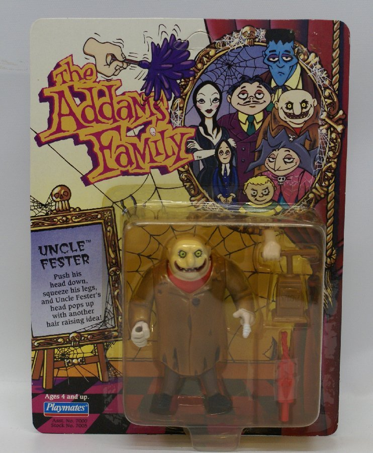 1992 Playmates THE ADDAMS FAMILY UNCLE FESTER Action