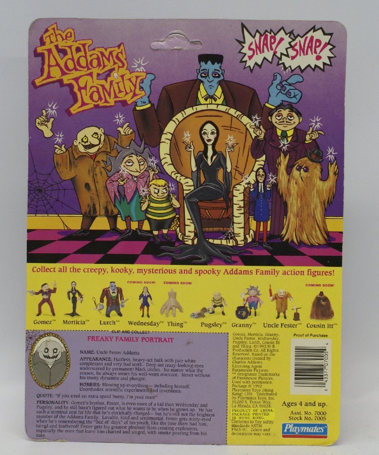 1992 Playmates THE ADDAMS FAMILY UNCLE FESTER Action - 2