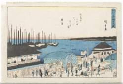 Hiroshige Moon Viewing at Takanawa on the Night