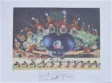 Salvador Dali.from DINNER DE GALA Limited edition litho