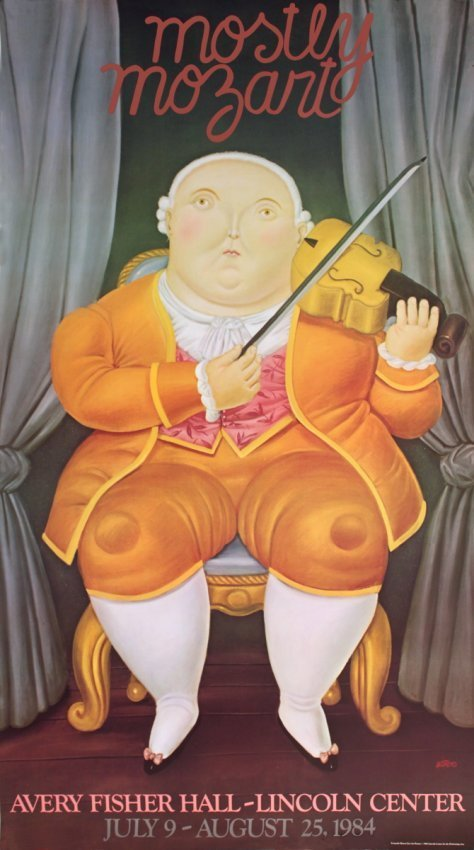 Botero,Fernando  Mostly Mozart Lincoln Center 1984 rare