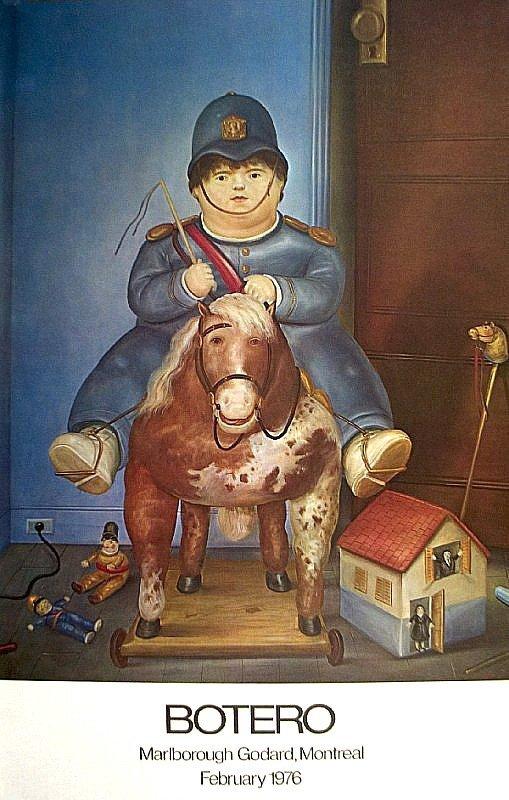 "Botero, Fernando:"" Boy on Horse"" 1976 marlborough"