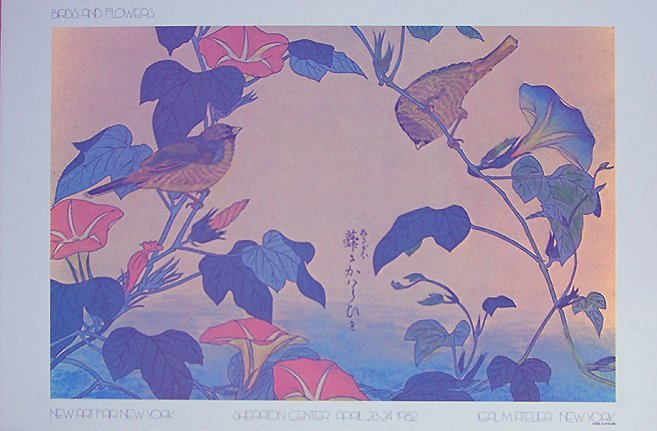 JAPANESE PRINT ANON BIRDS AND FLOWERS # 2