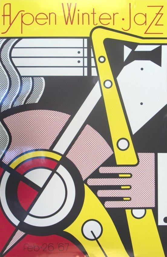 Lichtenstein, Roy  Aspen Jazz 1967 Serigraph