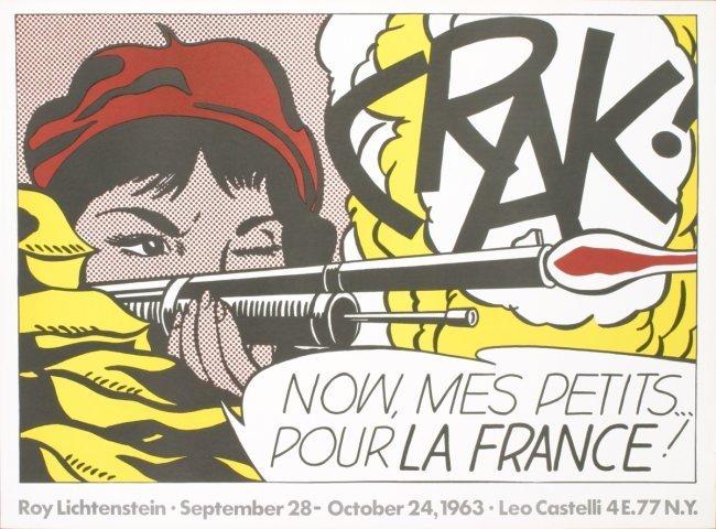 Lichtenstein, Crak! AND NOW MES PETITS...POUR LA FRANCE