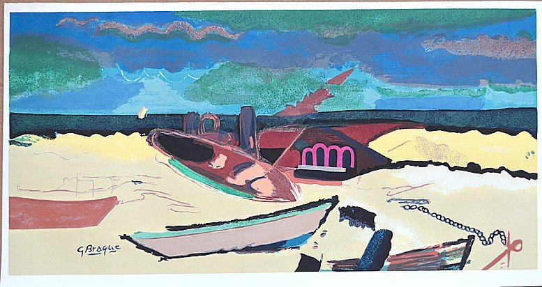 "BRAQUE,AFTER,"" THE BEACH"" ORIGINAL LIMITED ED SERIGRAPH"