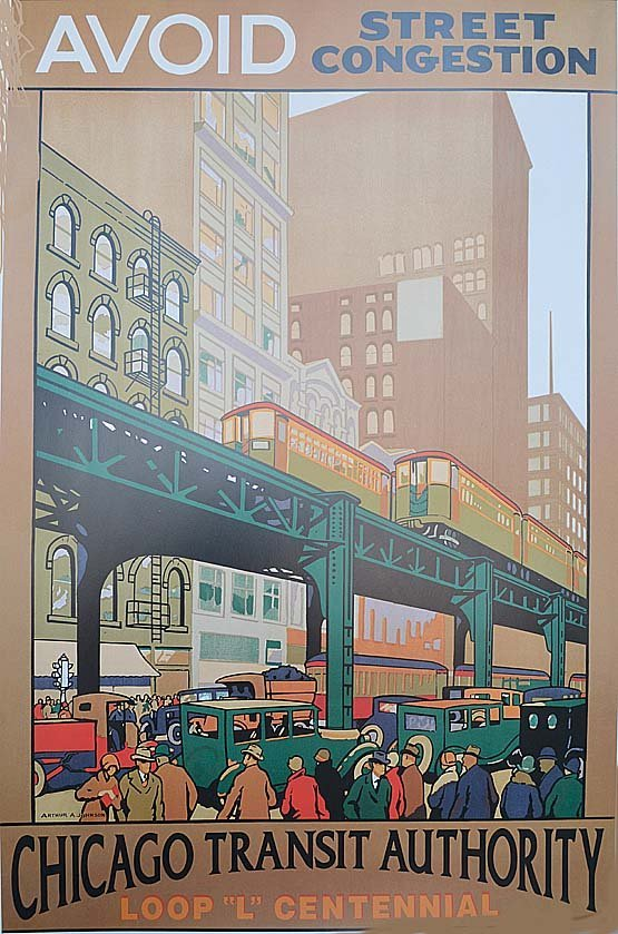 "ARTHUR A. JOHNSON ""AVOID STREET CONGESTION"" CHICAGO TRA"
