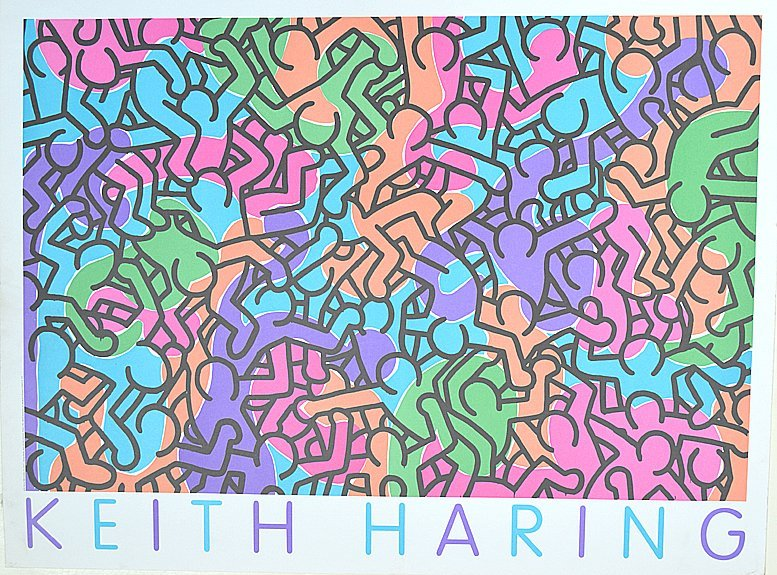 Haring, Keith  Untitled (People Love Peace) Offset Lith