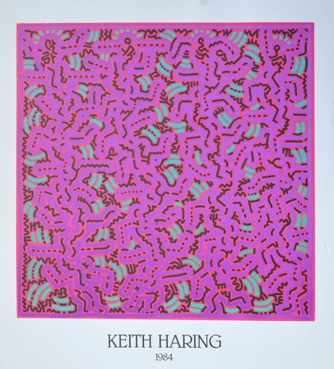 Haring, Keith Untitled Offset Lithograph .