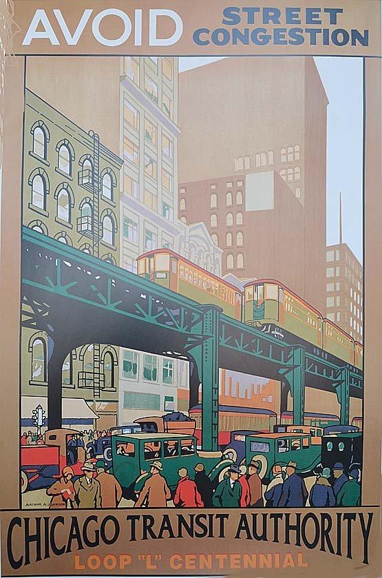 "ARTHUR A. JOHNSON ""AVOID STREET CONGESTION"" CHICAGO TRA"