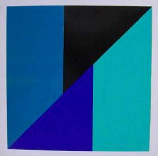 Jo DELAHAUT (1911-1992) BLEU GREEN BLACK SERIGRAPH SIG