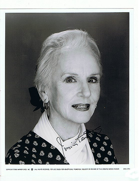 JESSICA TANDY- 8 x 10 BUST PHOTO W/ CERTIFICATE