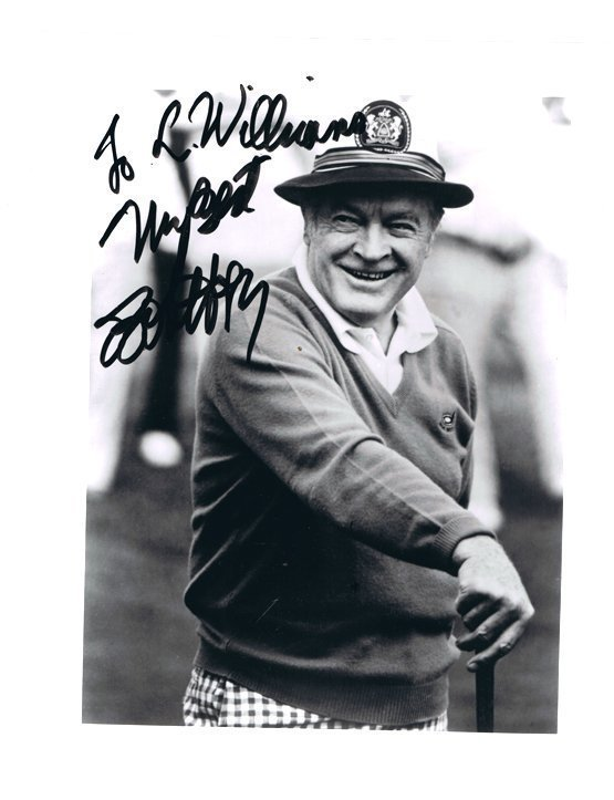 BOB HOPE- 8 x 10 PHOTO W/ CERTIFICATE