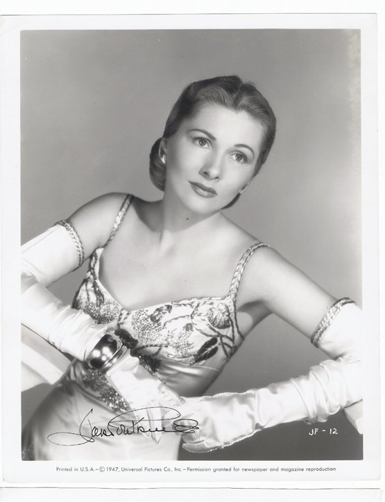 JOAN FONTAINE [1] - 8 x 10 PHOTO W/ CERTIFICATE #2