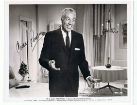 CESAR ROMERO - 8 x 10 PHOTO W/ CERTIFICATE