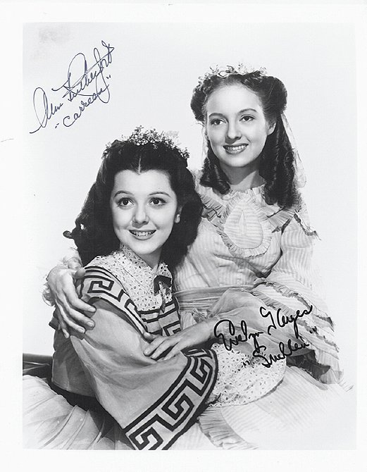 ANN RUTHERFORD & EVELYN - 8 x 10 PHOTO W/ CERTIFICATE