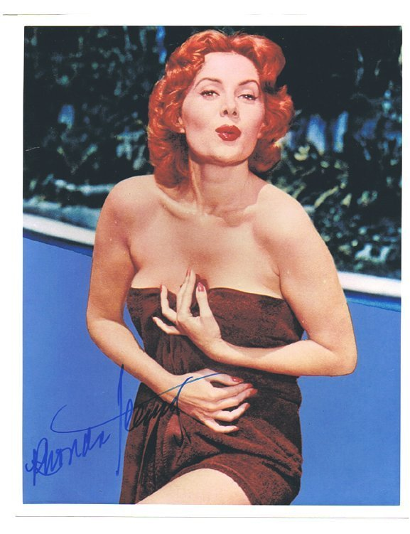 RHONDA FLEMING - 8 x 10 PHOTO W/ CERTIFICATE
