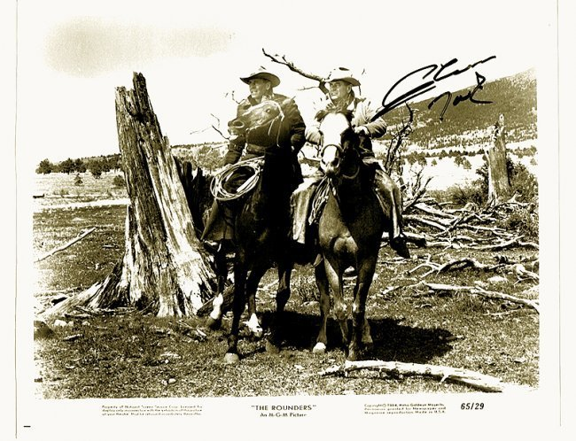 GLEN FORD - 8 x 10 PHOTO W/ CERTIFICATE #2