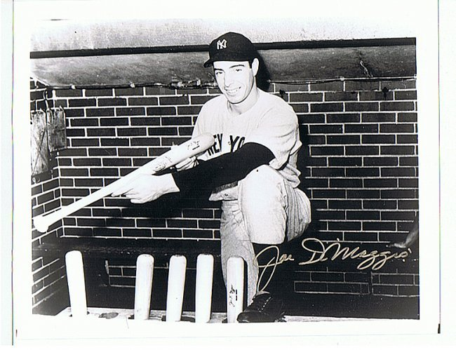 JOE DIMAGGIO - 8 x 10 PHOTO W/ CERTIFICATE