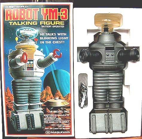 """VINTAGE 15"""" LOST IN SPACE  MASUDAYA  YM-3 ROBOT MIB"""