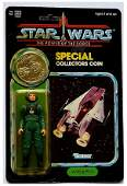 STAR WARS POTF A-WING PILOT FIGURE W/ COIN ON CARD