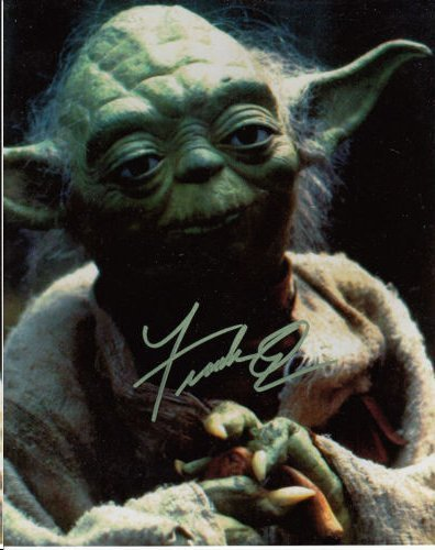 FRANK OZ YODA AUTHENTIC SIGNED 8 X 10 PHOTOGRAPH #2