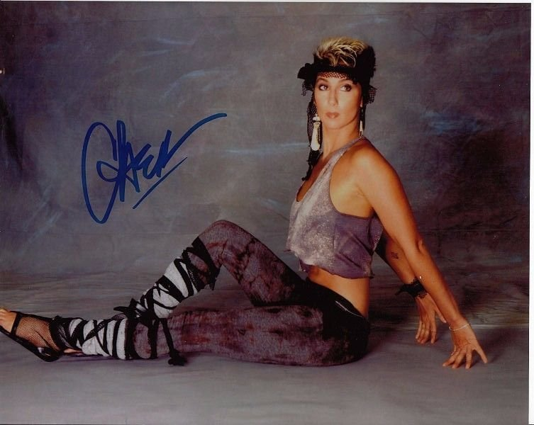 CHER AUTHENTIC SIGNED 8 X 10 PHOTOGRAPH.