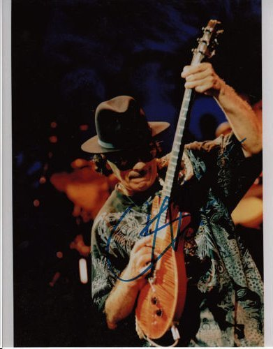 CARLOS SANTANA AUTHENTIC SIGNED 8 X 10 PHOTOGRAPH