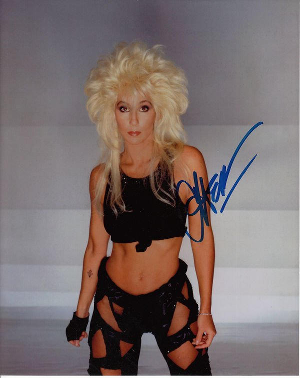 CHER AUTHENTIC SIGNED 8 X 10 PHOTOGRAPH