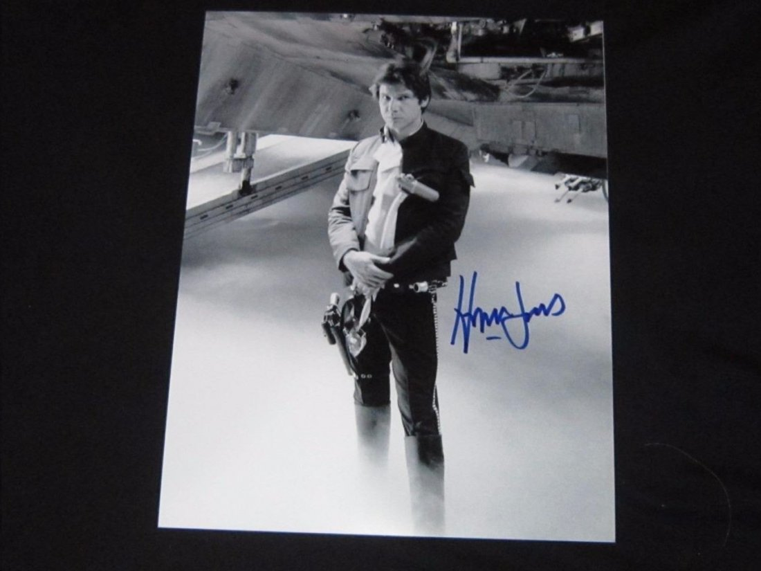 HARRISON FORD HAN SOLO SIGNED 8 X 10 PHOTOGRAPH