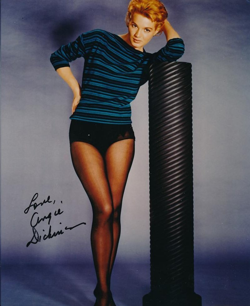 ANGIE DICKINSON SIGNED 8 X 10 PHOTOGRAPH