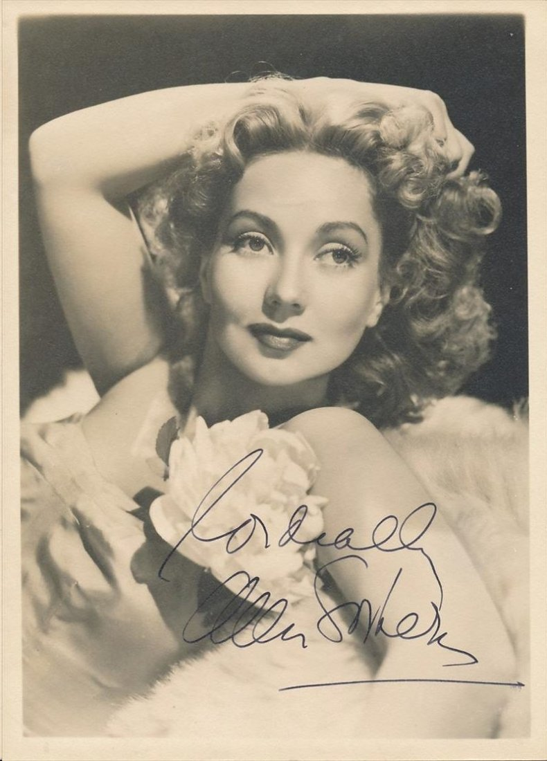 ANN SOTHERN SIGNED 5 X 7 PHOTOGRAPH