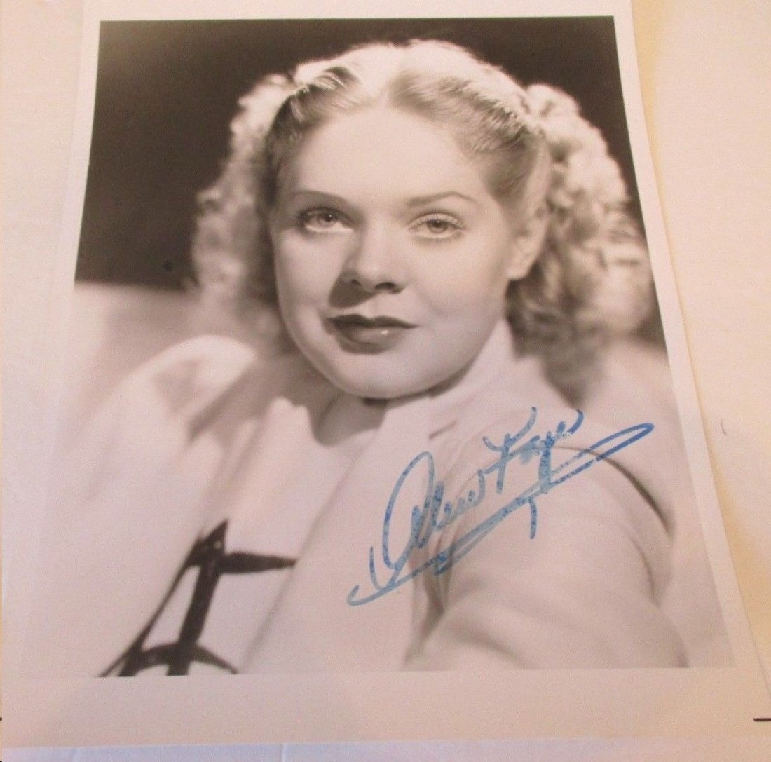 ALICE FAYE SIGNED 8 X 10 PHOTOGRAPH