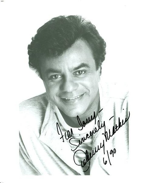 JOHNNY MATHIS SIGNED 8 X 10 PHOTOGRAPH