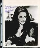 ELIZABETH TAYLOR SIGNED 8 X 10 PHOTOGRAPH