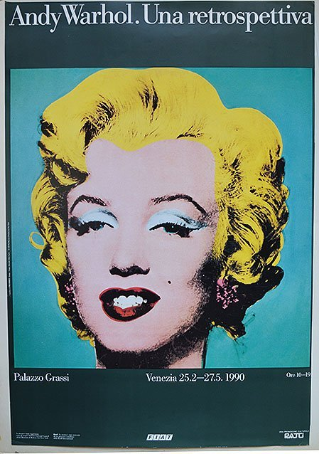 "Andy Warhol Poster /"" Retrospective /"" Marilyn Monroe Exhibition Poster in Mint"