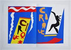 "MATISSEE ""CIRQUE"" DOUBLE PAGE LITHO CUT OUT"