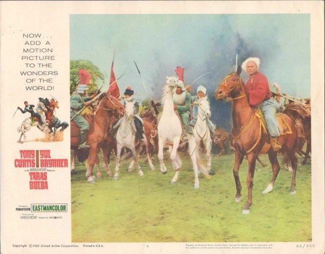 """""""TARAS BULBA"""" (1962) MOVIE LOBBY CARD 11 X 14"""