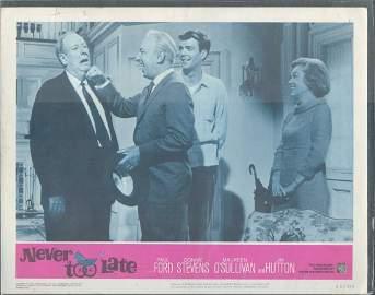 """NEVER TOO LATE"" (1965)  MOVIE LOBBY CARD 11 X 14"