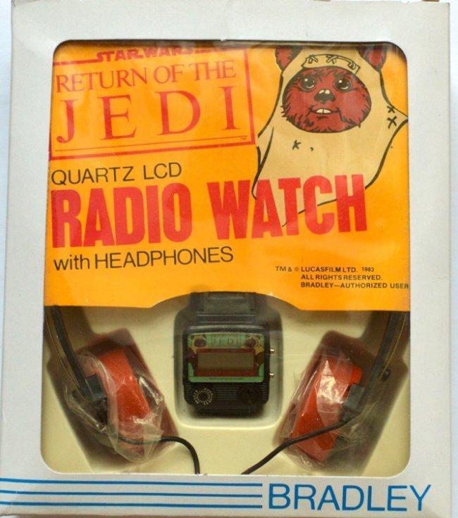 STAR WARS RETURN OF THE JEDI QARTZ LCD RADIO WATCH WITH