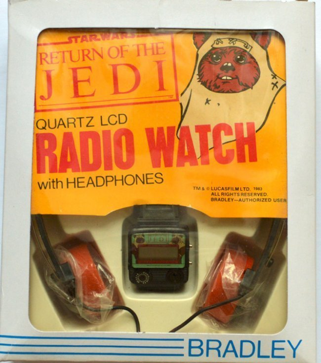 STAR WARS RETURN OF THE JEDI QARTZ LCD RADIO WATCH WITH
