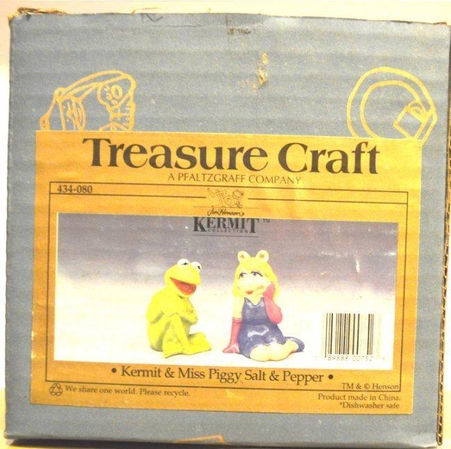 KERMIT & MISS PIGGY CERAMIC SALT & PEPPER JARS