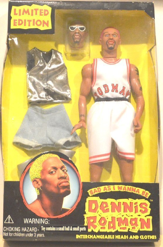 "DENNIS RODMAN""S ""BAD AS I WANNA BE"" DOLL."